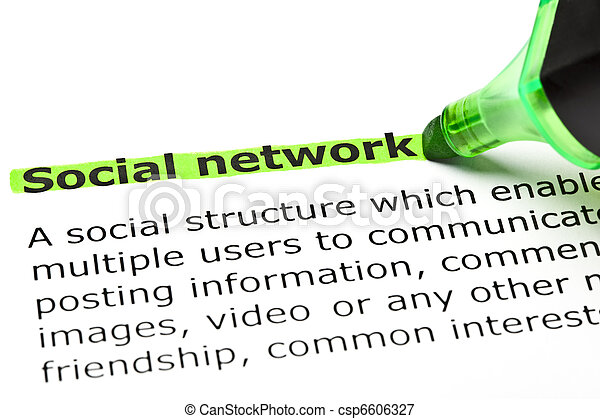 'Social network' highlighted in green - csp6606327
