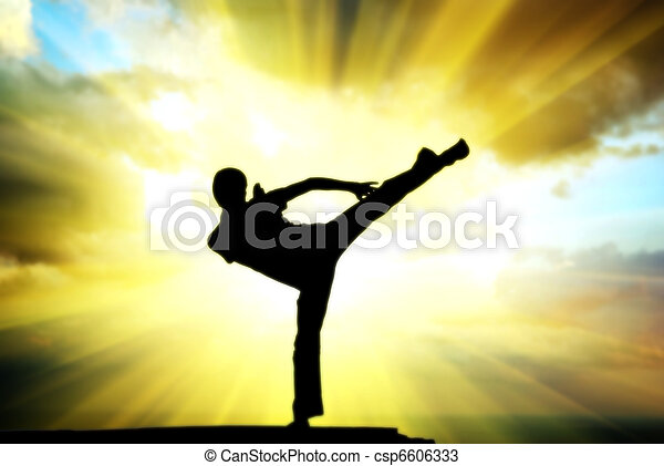 Kung fu at the edge - csp6606333