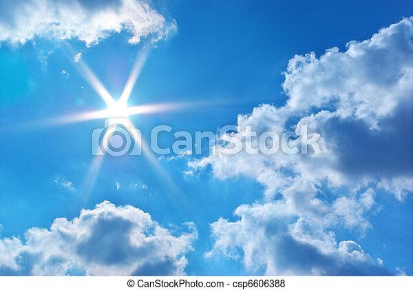azul, cielo, profundo - csp6606388
