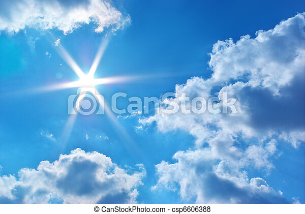 Deep blue sky - csp6606388