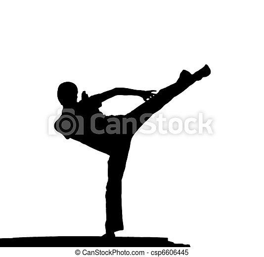 Kung fu at the edge - csp6606445