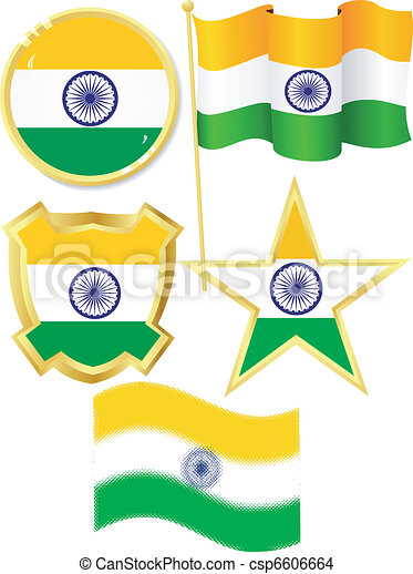 set of national subjects India - csp6606664