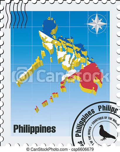 vector stamp with Philippines - csp6606679
