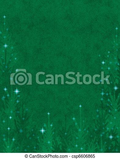 Sparkling Christmas Trees - csp6606865