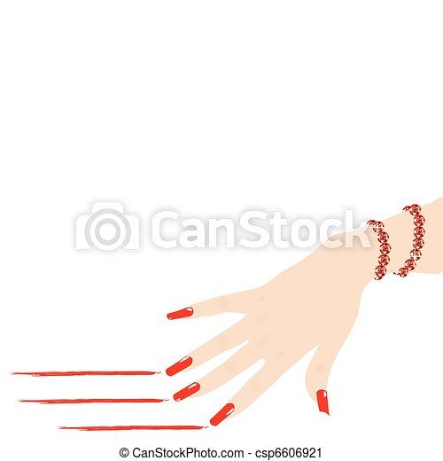 Armband clipart  Vektor Clip Art von frau, armband, hand, linien, vektor, kratzen ...