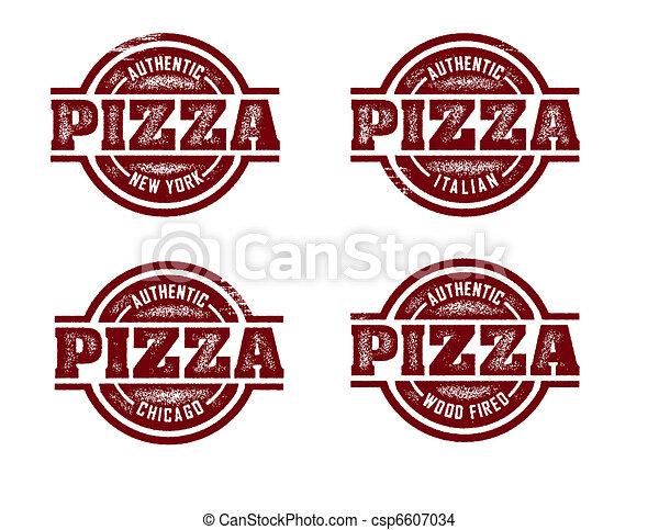 Pizza Stamps - csp6607034