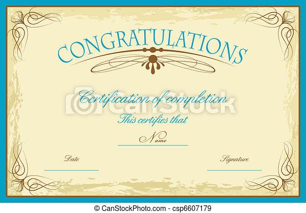 Certificate Template - csp6607179