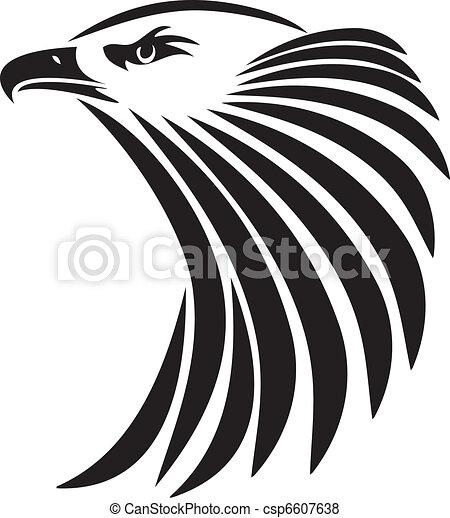 Clip art vectorial de guila cabeza grfico calvo ilustracin