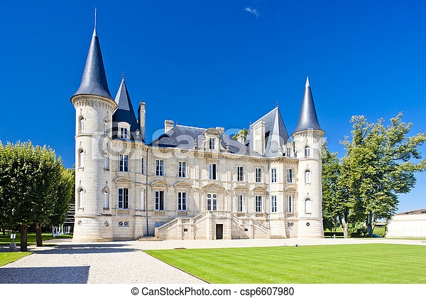 Chateau Pichon Longueville, Bordeaux Region, France - csp6607980