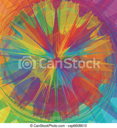 Mixed color wheel - csp6608610