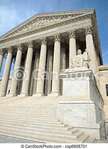The United States Supreme Court in Washington DC - csp6608701