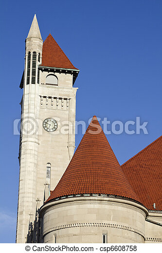 Clock Tower of Union Station - csp6608758