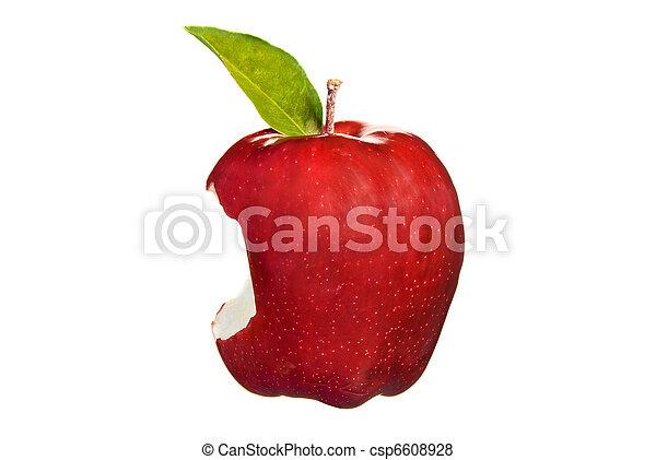 Red apple bite - csp6608928