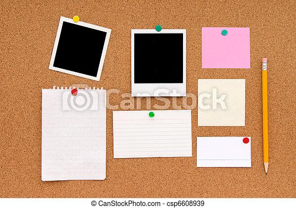 Message cork board - csp6608939