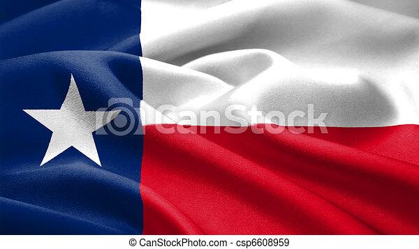 Texas flag. - csp6608959