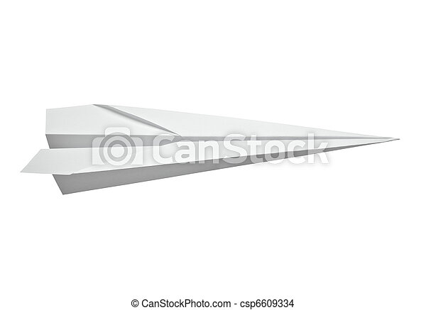 paper airplane transportation - csp6609334