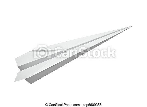 paper airplane transportation - csp6609358