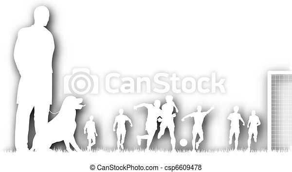 Cutout football spectator - csp6609478