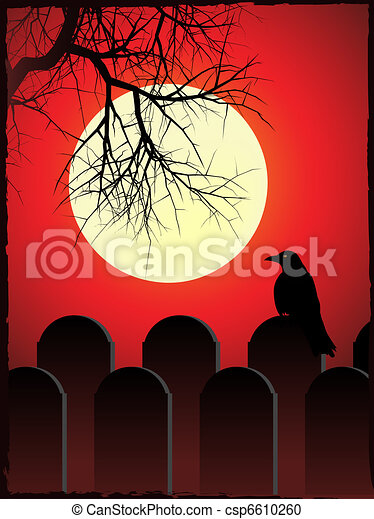 Spooky graveyard - csp6610260