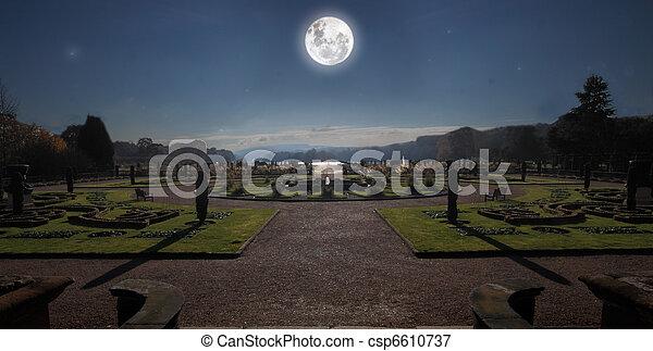 Moonlit Garden - csp6610737