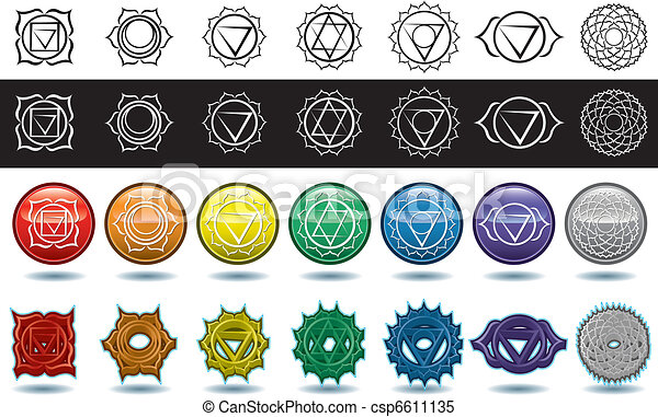 The seven yoga chakras - csp6611135
