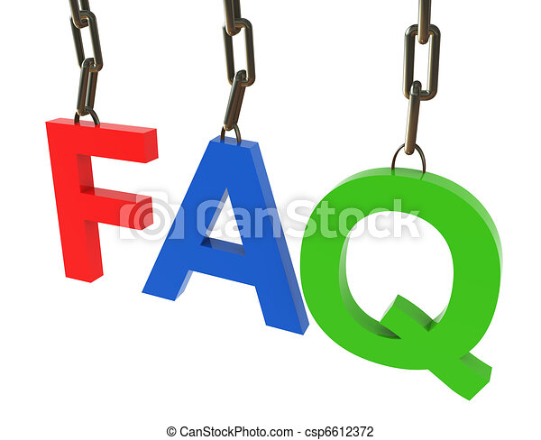 Hanged colorful faq text - csp6612372