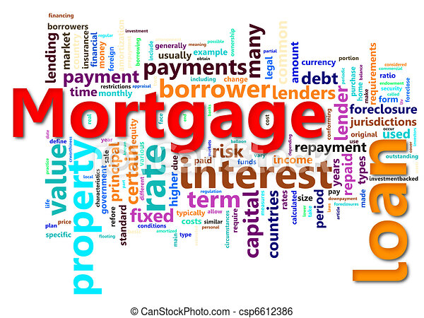 Mortgage wordcloud - csp6612386