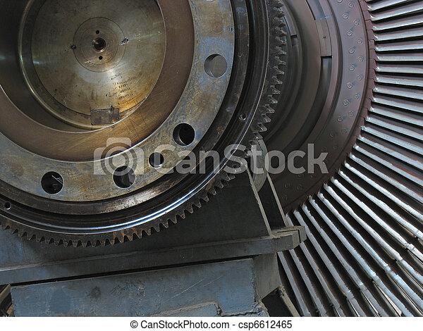 Power generator steam turbine during repair - csp6612465