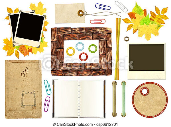 Collection elements for scrapbooking - csp6612701