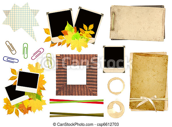 Collection elements for scrapbooking - csp6612703
