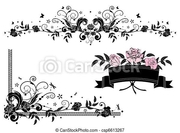 roses design elements - csp6613267