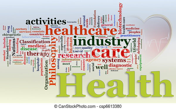 Wordcloud of Healthcare - csp6613380