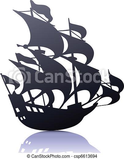 ship - stock illustration, royalty free illustrations, stock clip art ...