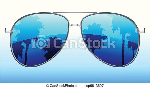 funky sunglasses  - csp6613697