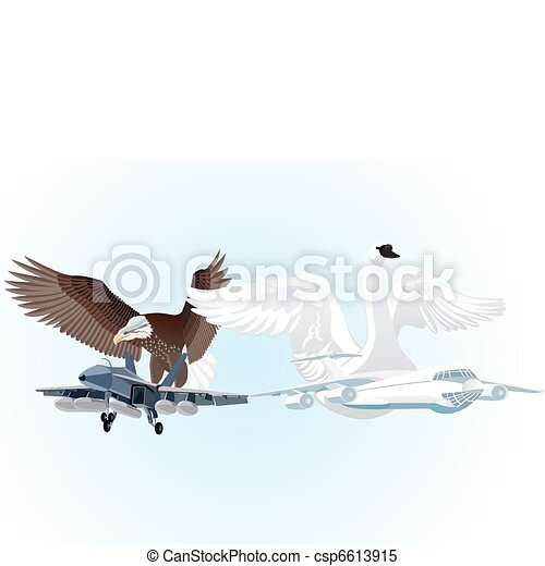 Military and civil aviation - csp6613915