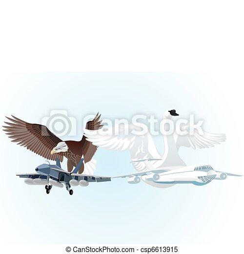 Military and civil aviation - csp6613915