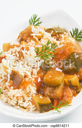 Cooked vegetable with rice - csp6614211