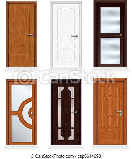 Vetores De Modernos Portas Classic Interior E Frente