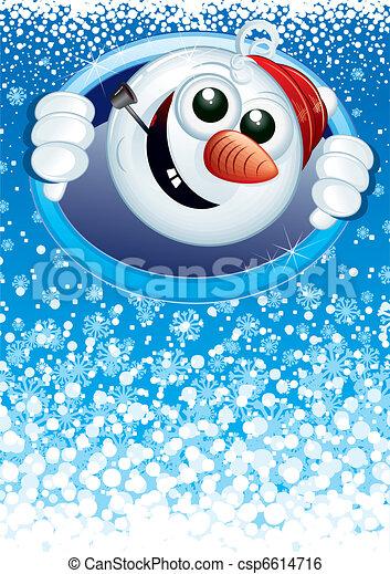 Funny Snowman - csp6614716
