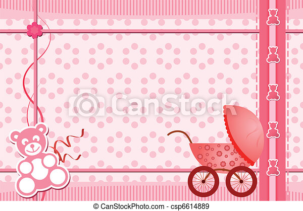 Baby shower greeting card - csp6614889