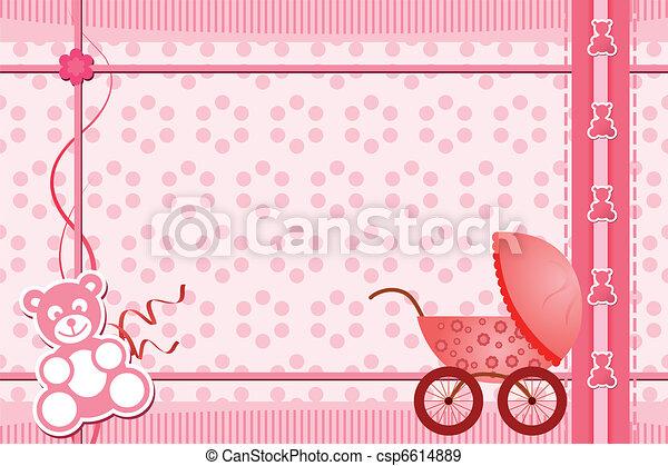 Baby shower greeting card - csp6614889