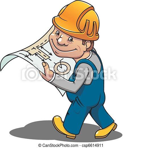 Smiling worker - csp6614911