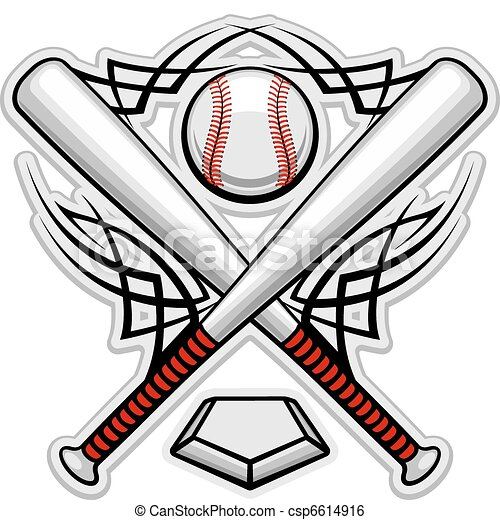 Color baseball emblem - csp6614916