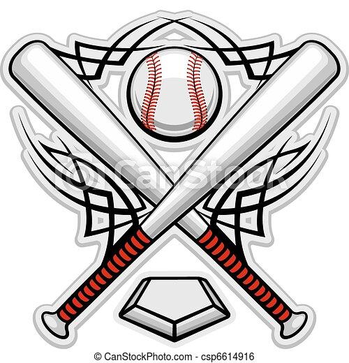 Color baseball emblem - csp6614916