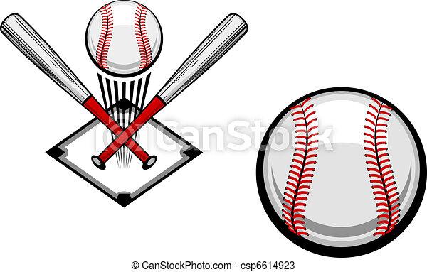 Baseball emblem - csp6614923