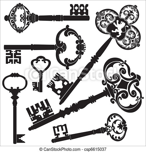 Antique keys - csp6615037