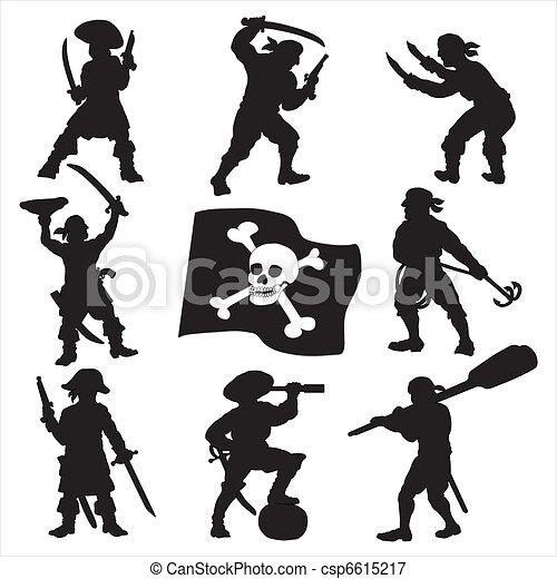 Pirates crew silhouettes set 1 - csp6615217