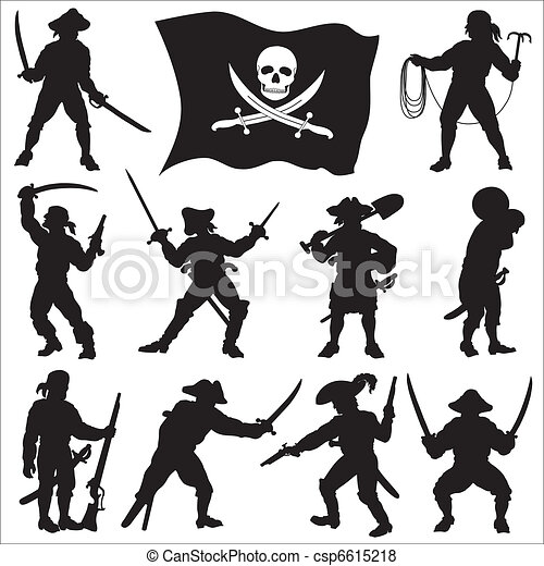 Pirates crew silhouettes set 2 - csp6615218