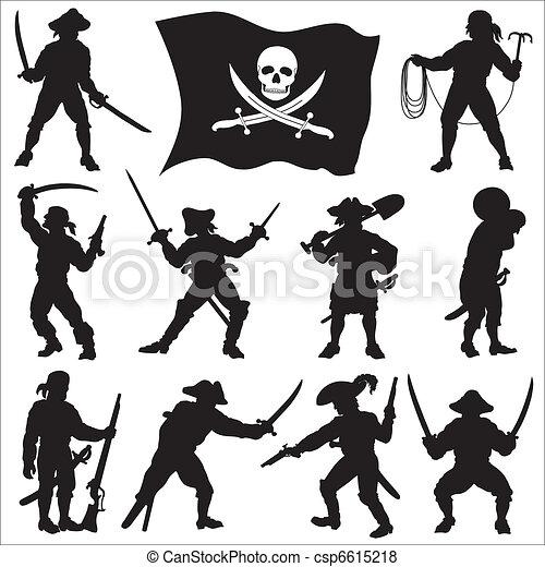 Pirates crew silhouettes set 2 - csp6615218