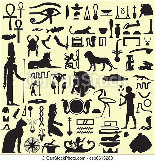 Egyptian Symbols and Signs SET 1 - csp6615280